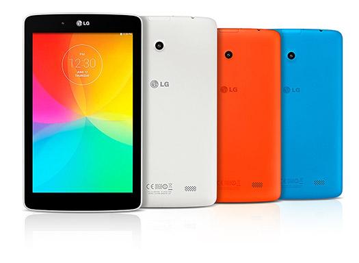 LG G Pad 7.0, G Pad 8.0 y G Pad 10.1 colores