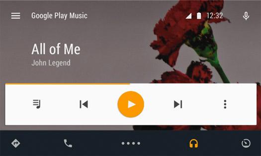 Android Auto Reproductor de música