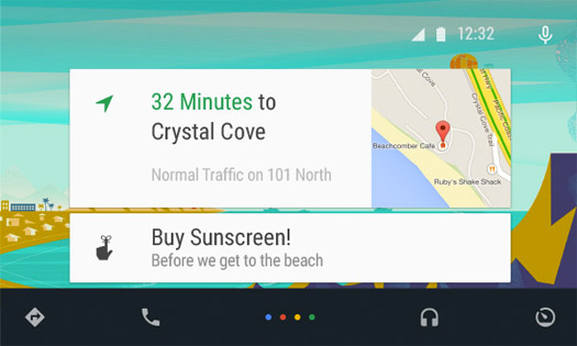 Android Auto tarjetas
