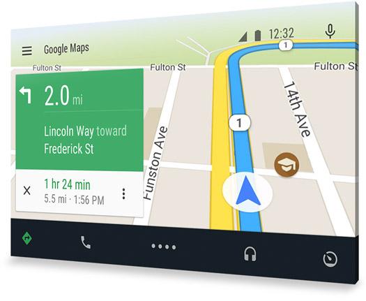 Android Auto Mapas por voz