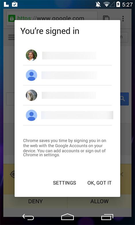 Android L pantalla filtrada