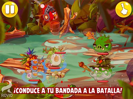 Angry Birds Epic conduce a tu banda