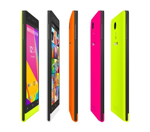 """Blu Life 8 Octa Core de 8 MP y 5"""" colores de lado, grosor"""