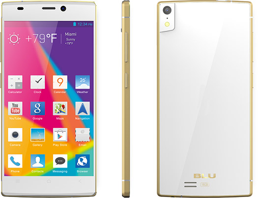Blu Vivo IV Octa Core color blanco con Oro