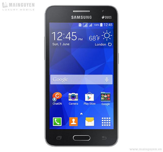 Samsung Galaxy Core 2 Duos color negro pantalla