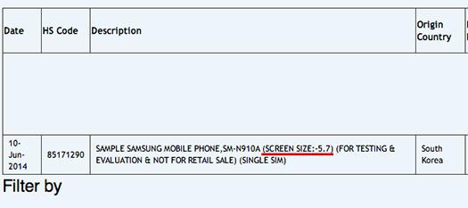 """Samsung SM-N910A importación Note 4 con 5.7"""" QHD"""