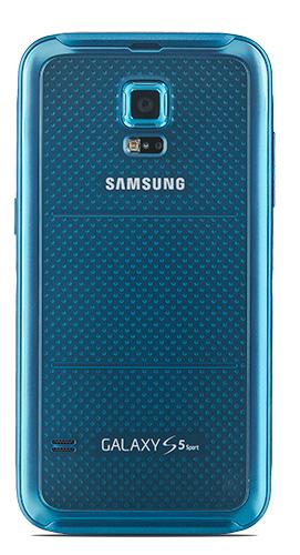 Samsung Galaxy S5 Sport azul brillante parte trasera