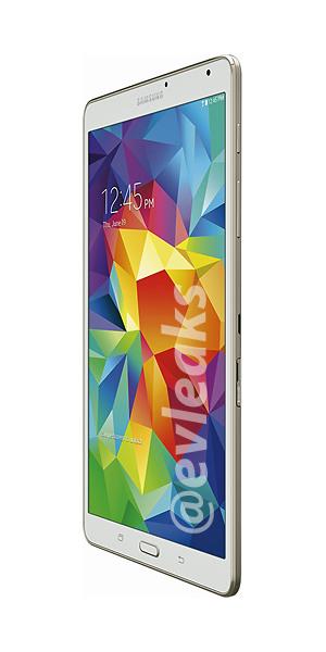 Samsung Galaxy Tab S 8.4 Super AMOLED Quad HD de lado