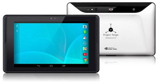 Google Tablet Tango Project color planta