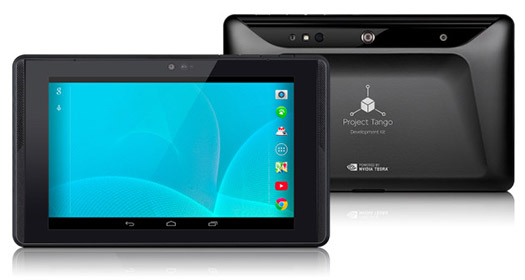 Google Tablet Tango Project color negro