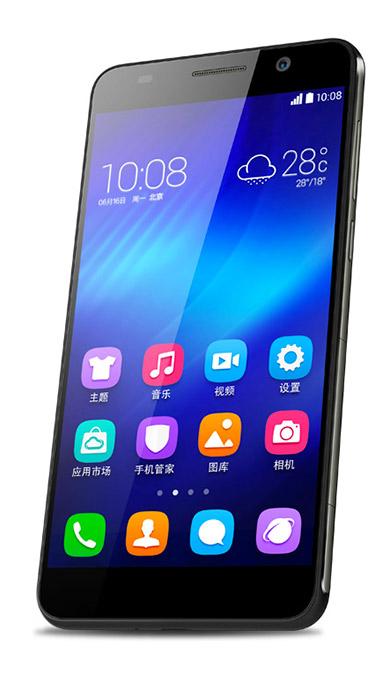 Huawei Honor 6 color negro pantalla