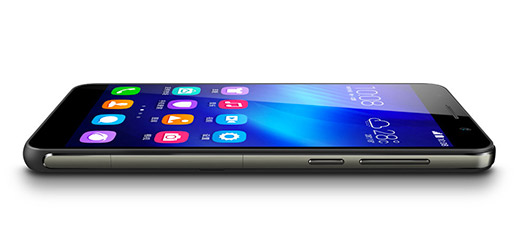 Huawei Honor 6 color negro pantalla recostado