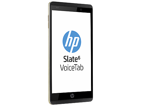 "HP Slate 6 VoiceTab pantalla 6"" HD de lado"