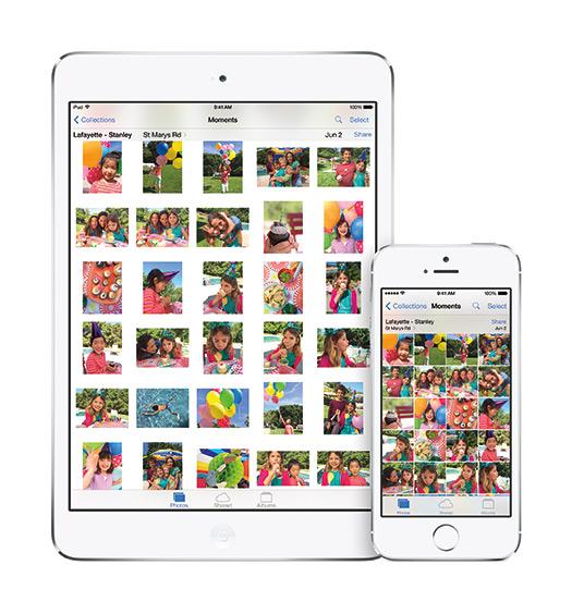 Apple iPhone 5s y iPad con iOS 8