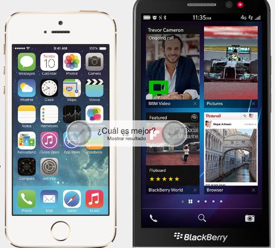 iphone 5s vs blackberry z30