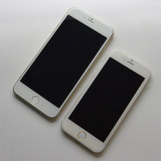 """iPhone 6 de 5.5"""" phablet comparado con el iPhone 6 de 4.7"""" pantallas"""
