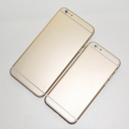 """iPhone 6 de 5.5"""" phablet comparado con el iPhone 6 de 4.7"""" cámara trasera"""