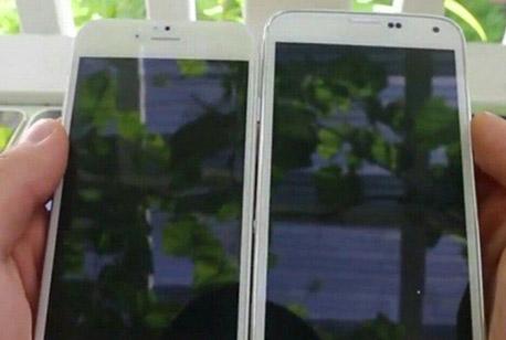 El iPhone 6 junto al Galaxy S5
