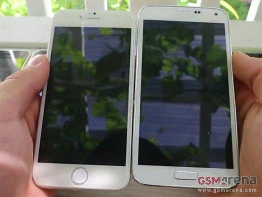 El iPhone 6 junto al Galaxy S5 completo