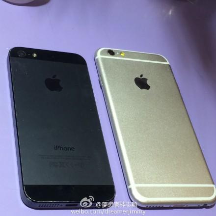 iPhone 6 4.7 en filtración con iPhone 5S parte trasera