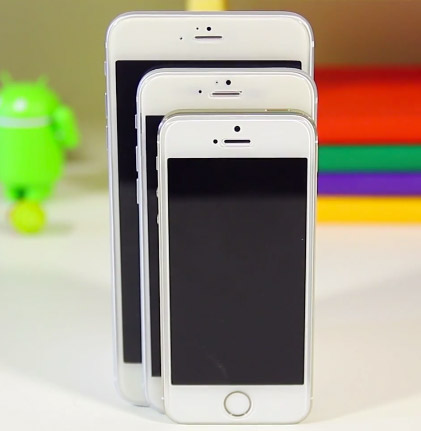 iPhone 6 phablet , Phone 6 4.7 y iPhone 5s