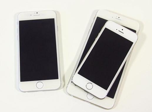 iPhone 6 phablet , Phone 6 4.7 y iPhone 5s pantallas