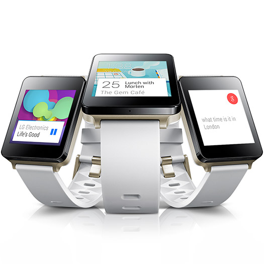 LG G Watch color Blanco Oro pantallas