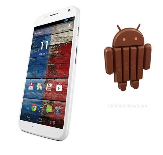 Moto X con Android 4.4.3 KitKat