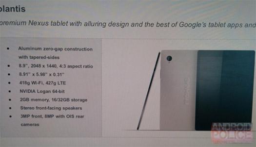 HTC Nexus 9 filtrada con especificaciones