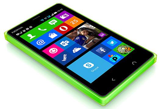 Nokia X2 oficial, color verde pantalla