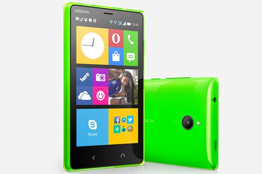 Nokia X2 oficial verde cámara y pantalla