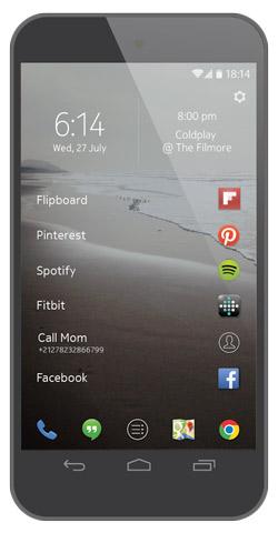 Nokia  Z Launcher para Android Pantalla de inicio