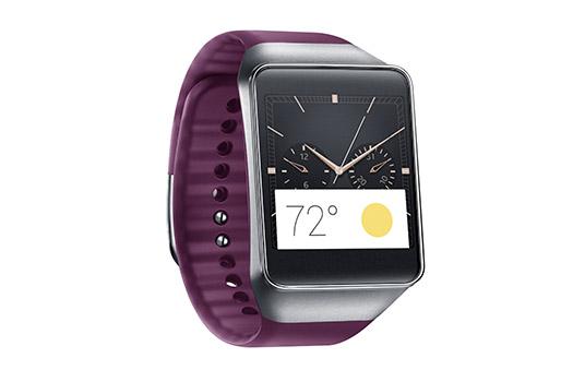 Samsung Gear Live color Rojo vino de lado pantalla