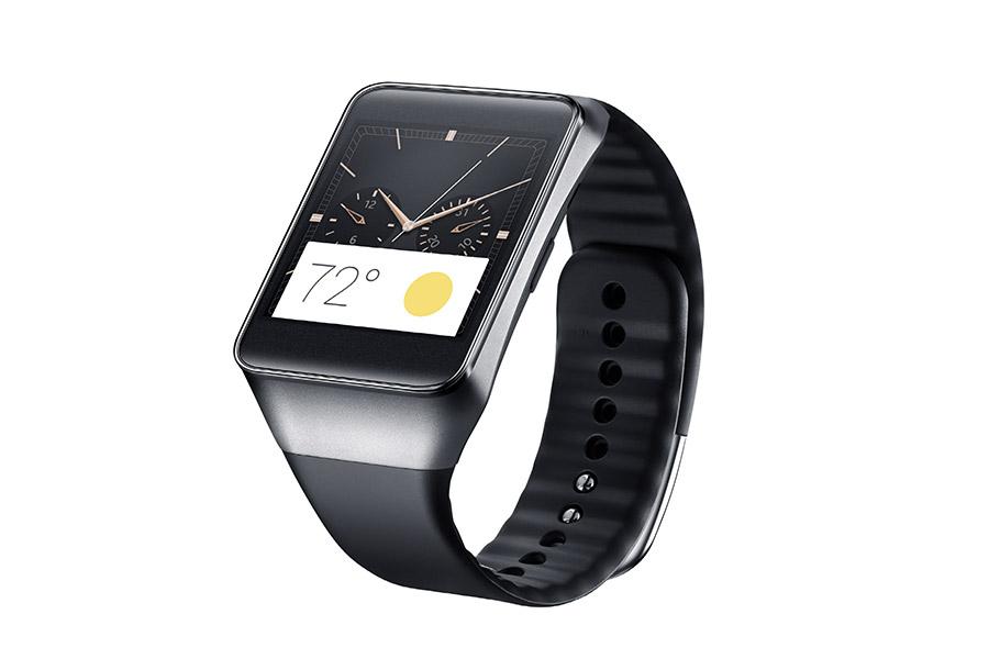 Samsung Gear Live color negro de lado pantalla perfil extensible