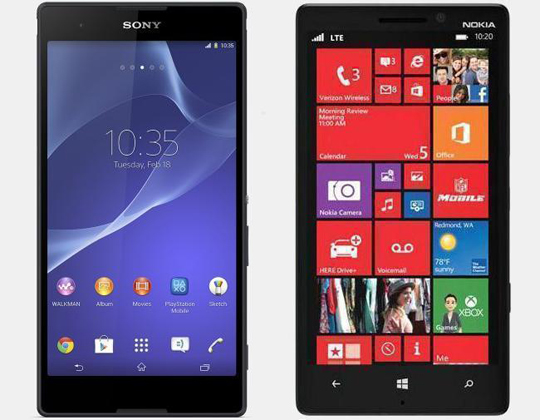 xperia t2 ultra vs lumia 1320