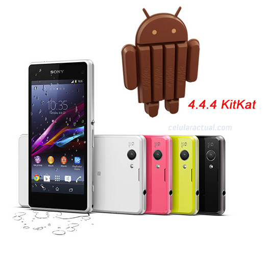 Sony Xperia Z1 Compact con Android 4.4.4 KitKat