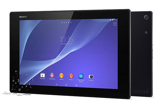 Sony Xperia Z2 Tablet color negro pantalla y cámara trasera