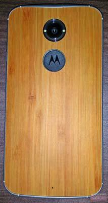 Moto X+1 madera parte trasera