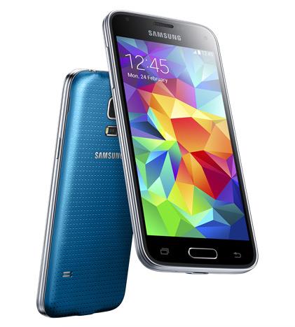 Samsung Galaxy S5 mini color Azul pantalla y cámara