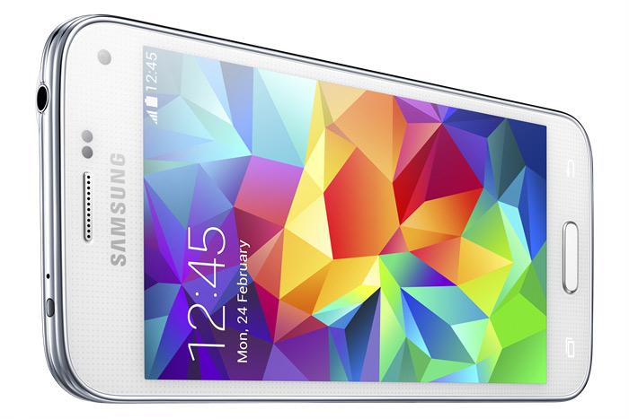 Samsung Galaxy S5 mini color blanco pantalla HD horizontal
