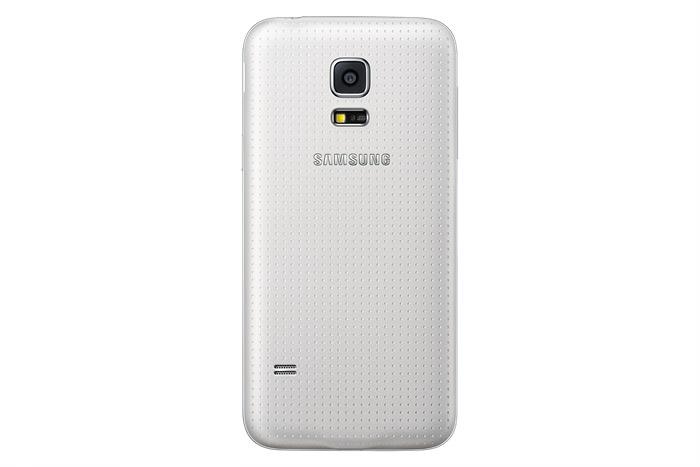 Samsung Galaxy S5 mini color blanco cámara trasera