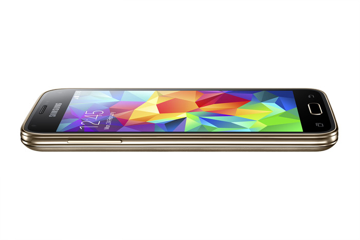 Samsung Galaxy S5 mini color Oro de lado acostado