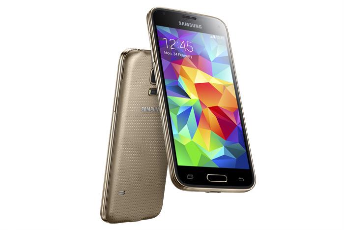 Samsung Galaxy S5 mini color Oro pantalla y cámara