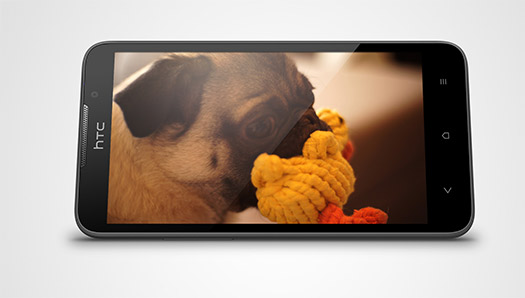 El HTC Desire 516 Dual SIM  pantalla color negro