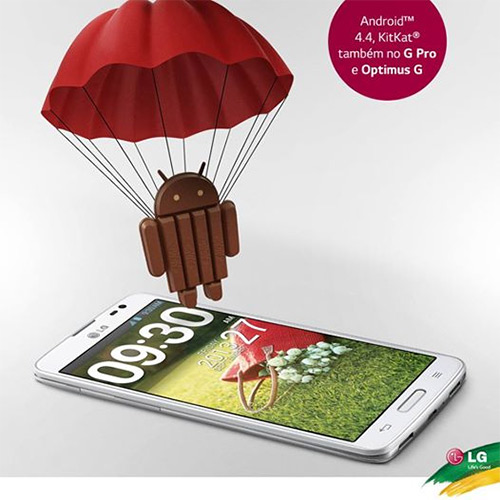 LG Android KitKat para Optimus  G y Optimus G Pro