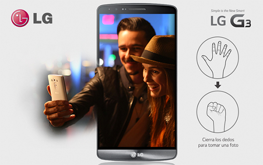 LG G3 Selfie Gesture - gesto para las selfies