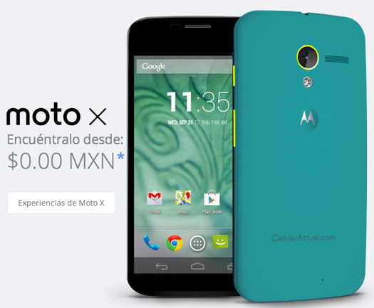Motomaker en México para el Moto X con mensaje celular actual