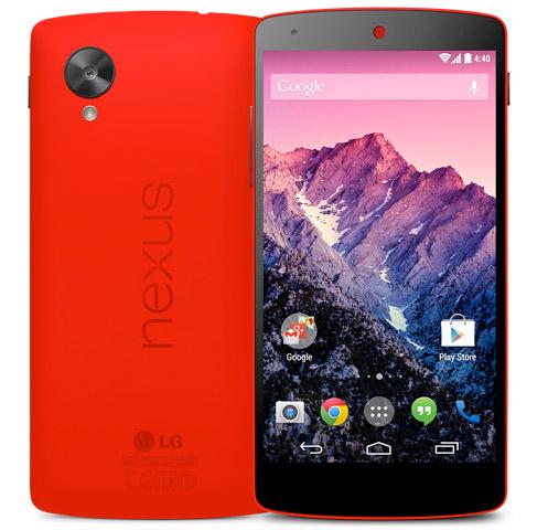 LG Nexus 5 color rojo de 32 GB ya en México desbloqueado