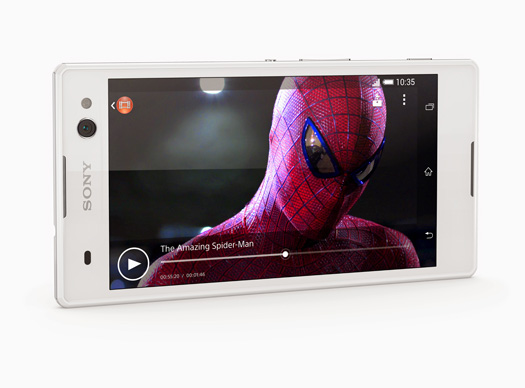 Sony Xperia C3 Selfie phone pantalla Spiderman Video