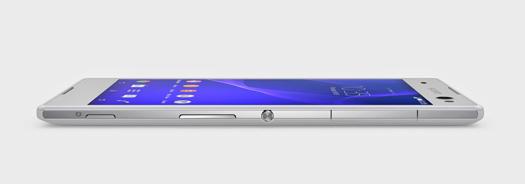 Sony Xperia C3 Selfie grosor de lado